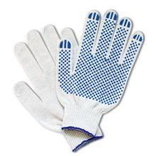 Перчатки трикотажные х/б с ПВХ (5 нитей 10 класс)