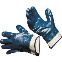 Перчатки с нитриловым покрытием эконом (крага) и (трикотажный манжет)