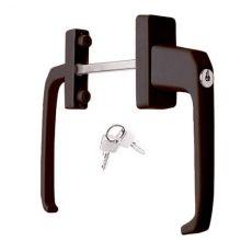 Двухсторонняя ручка с ключом для дверей (под 70 профиль)
