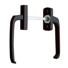 Двухсторонняя ручка коричневая (под 70 профиль) для дверей